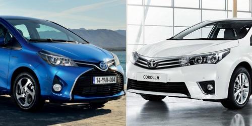 Sedan Toyota Corolla và hatchback Toyota Yaris cạnh tranh thị trường